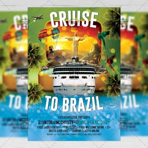 Seasonal A5 Template - Cruise to Brazil Flyer