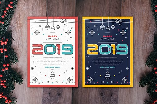 Minimal New Year Flyer Template