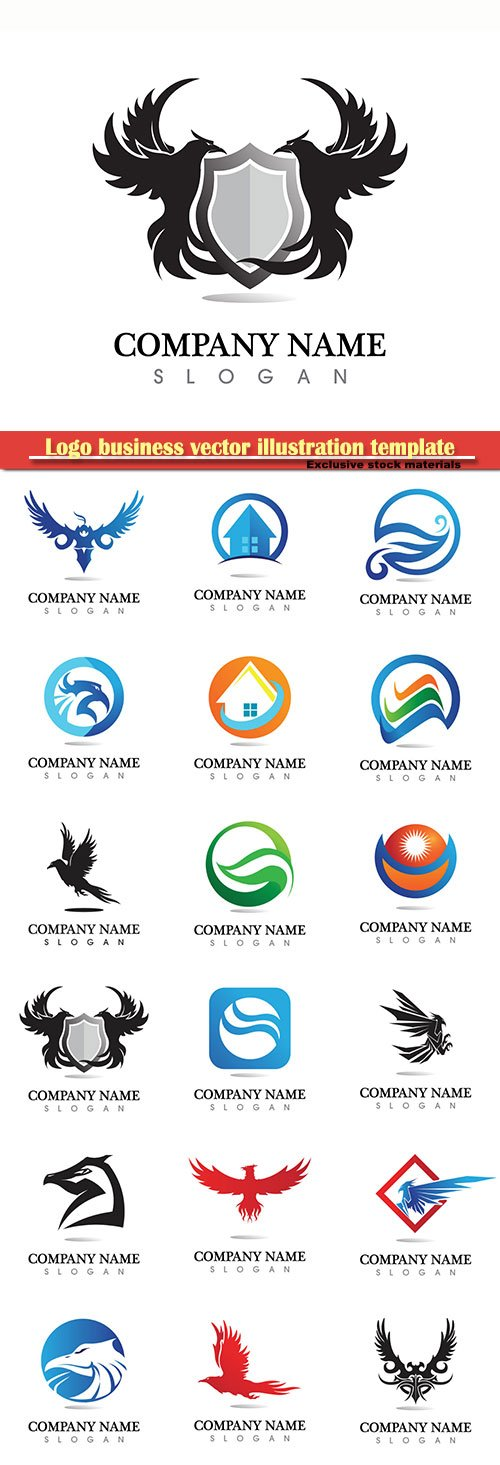 Logo business vector illustration template # 159