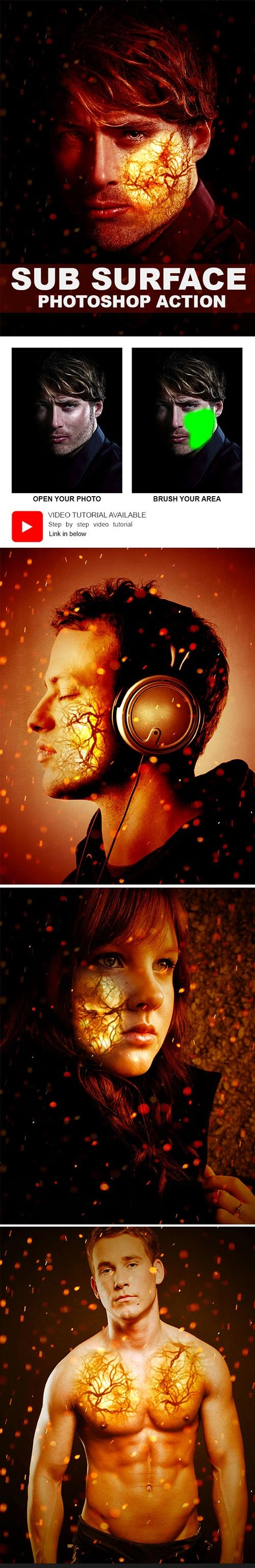 GraphicRiver - Sub Surface Photoshop Action 22121634