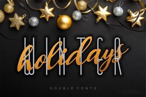 Winter Holidays Duo Font