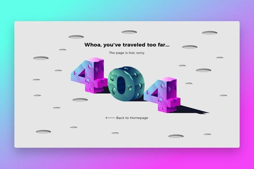 404 planet - Banner & Landing Page