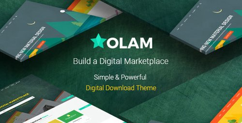ThemeForest - Olam v4.3.0 - WordPress Easy Digital Downloads Theme, Digital Marketplace, Bookings - 14331470
