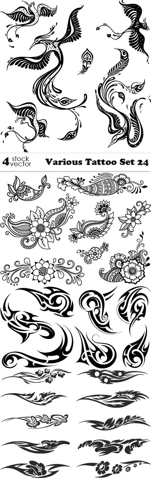 Vectors - Various Tattoo Set 24