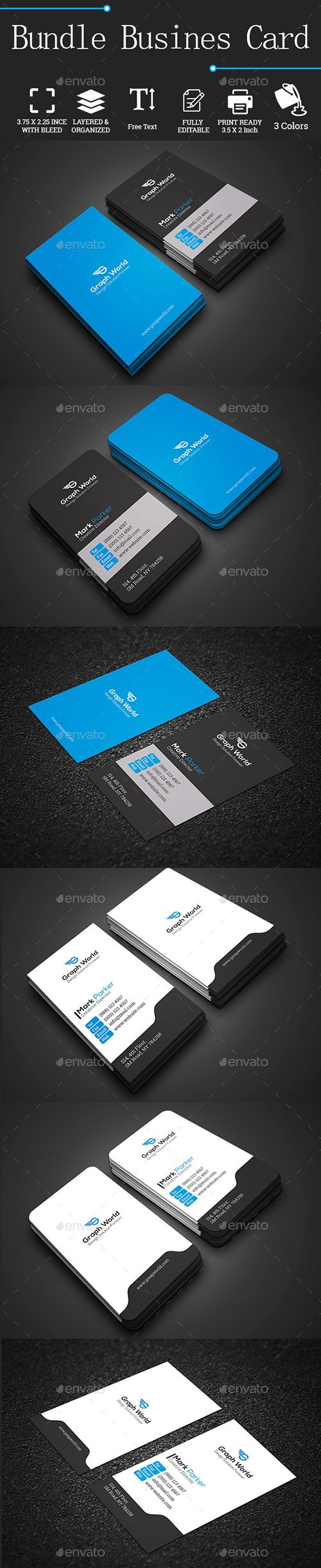 GraphicRiver - Bundle Business Cards 22135515