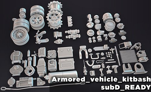 HQ Armored vehicle kitbash subD ready