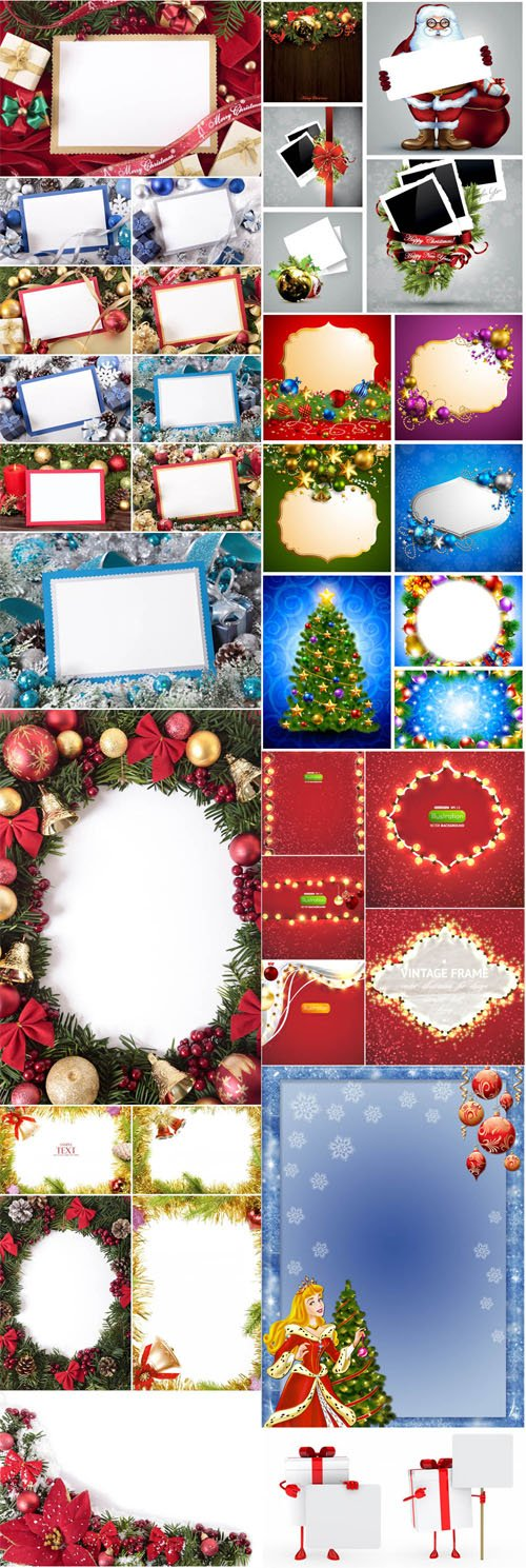 Christmas & New Year Frames Collection 1