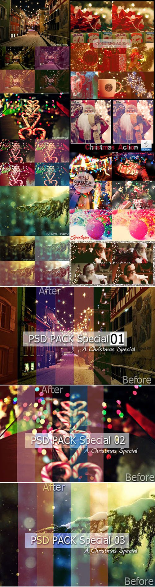 Magical Christmas Special Pack - Photoshop Actions & Effects
