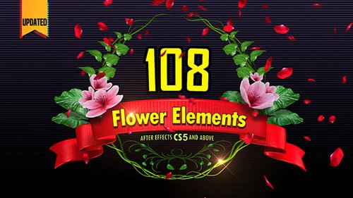 108 Flower Elements - Project for After Effects (Videohive)