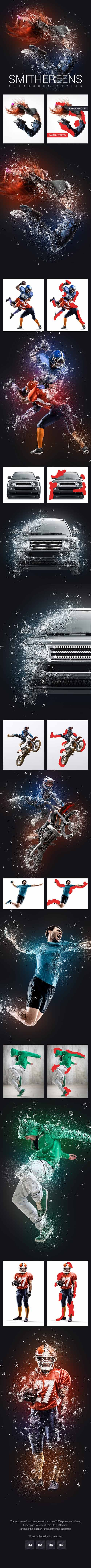GraphicRiver - Smithereens Photoshop Action 22843789