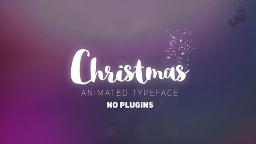 Christmas- Animated Typeface - Project for After Effects (Vid