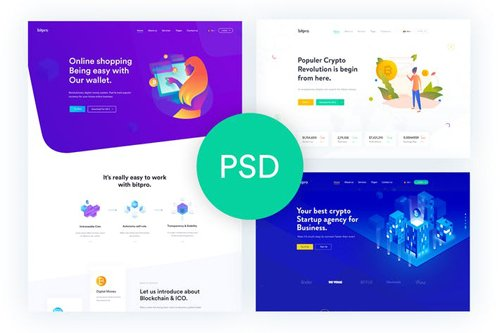 Bitpro - Crypto Currency PSD Template