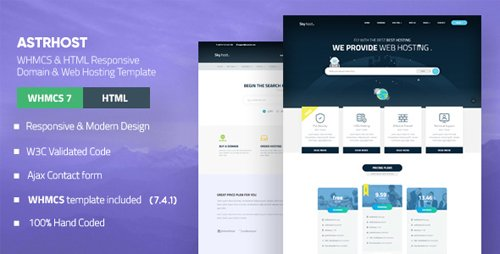 ThemeForest - ASTRHOST - WHMCS & HTML Responsive Domain & Web Hosting Template (Update: 15 September 18) - 20145228