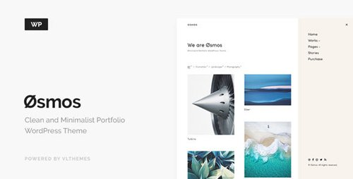 ThemeForest - Osmos v1.3.1 - Minimalist Portfolio WordPress Theme - 20262260