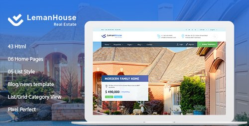 ThemeForest - Lemanhouse - Real Estate HTML Template (Update: 12 October 18) - 22593480