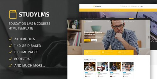 ThemeForest - Studylms - Education LMS Courses HTML Template (Update: 12 October 18) - 22060754