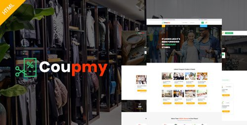 ThemeForest - Coupmy - Affiliates, Offers, Deals, Discounts & Marketplace HTML Template (Update: 5 July 18) - 20899463