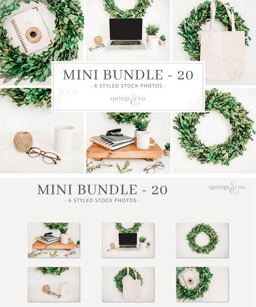 CM - Greenery Wreath Mini Photo Bundle 20 2308920
