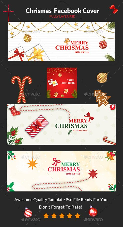 GraphicRiver - Christmas Facebook Cover 22905438