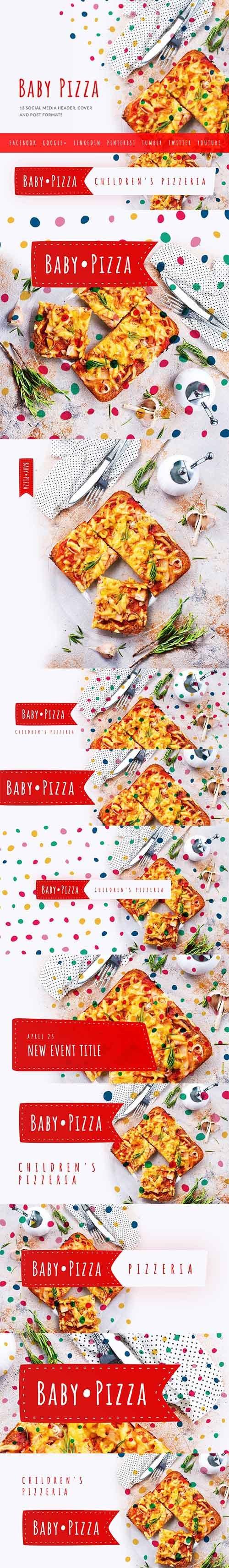Baby Pizzeria - Social Media Kit