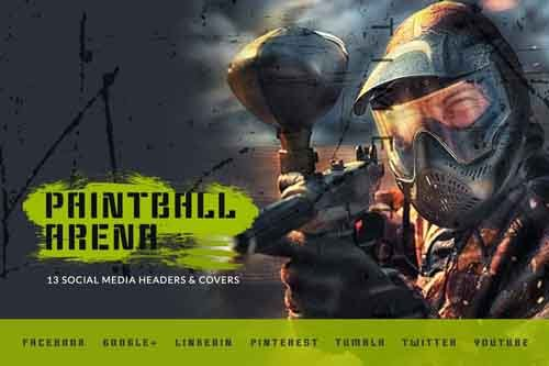 Paintball Arena - Social Media Kit