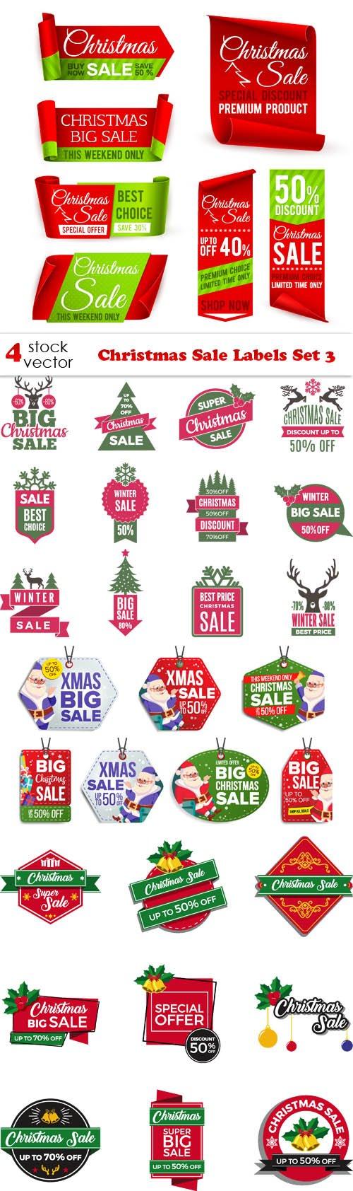 Vectors - Christmas Sale Labels Set 3
