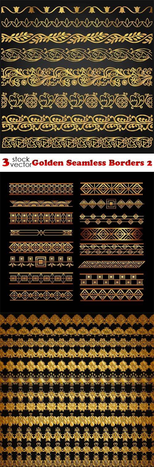 Vectors - Golden Seamless Borders 2
