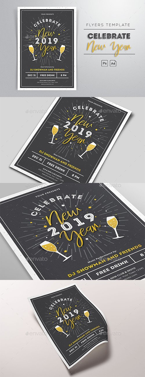 GR - New Year 2019 Flyers 22977993