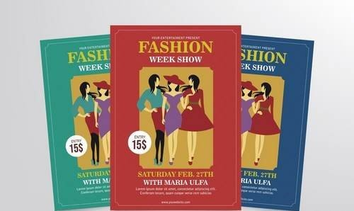 Fashion Week Show Flyer Template Vol. 1