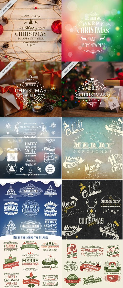 Christmas Elements Vector Pack 3 - Labels/badges/Stickers