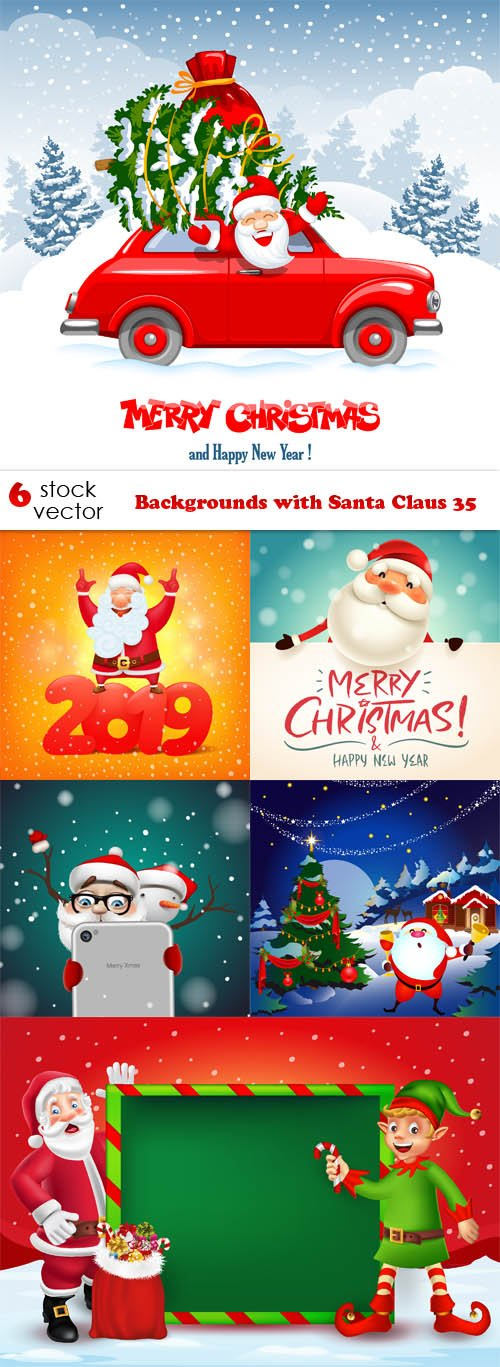 Vectors - Backgrounds with Santa Claus 35