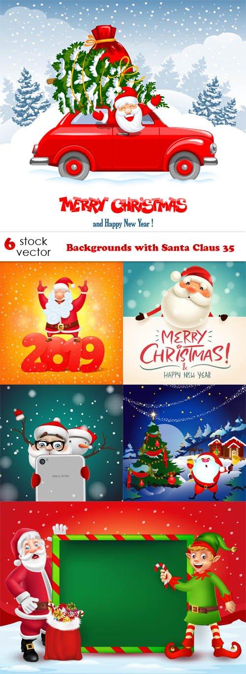 Vectors - Backgrounds with Santa Claus 35