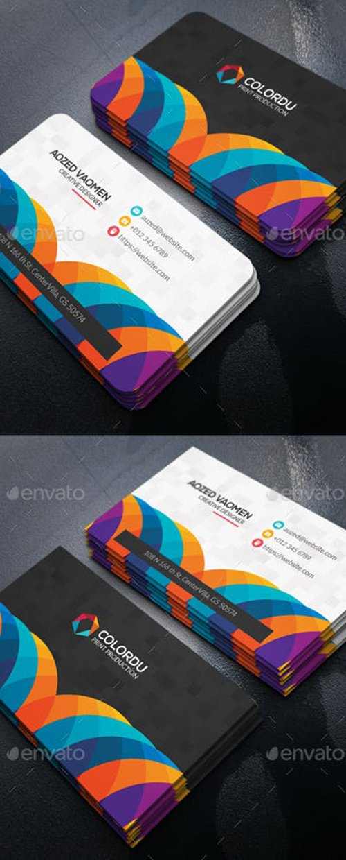Graphicriver - Color Business Card 22094545