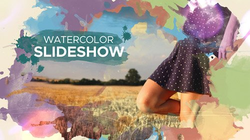Watercolor Parallax Slideshow - Project for After Effects (Videohive)