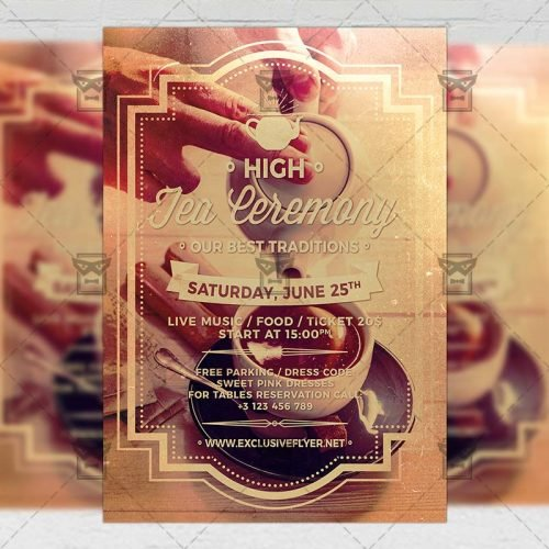 Community A5 Template - High Tea Ceremony Flyer