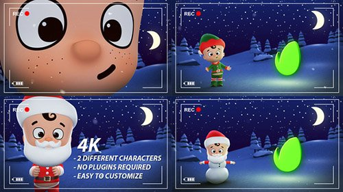 Santa & Elf Christmas Animation Opener - Project for After Effects (Videohive)
