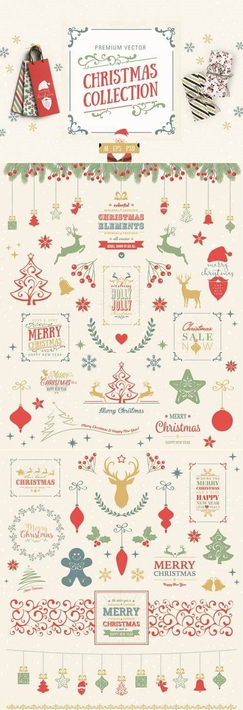 Premium Vector Christmas Collection