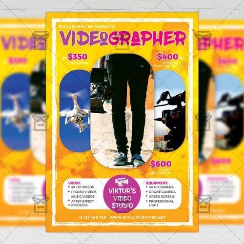 Business A5 Flyer Template - Videographer