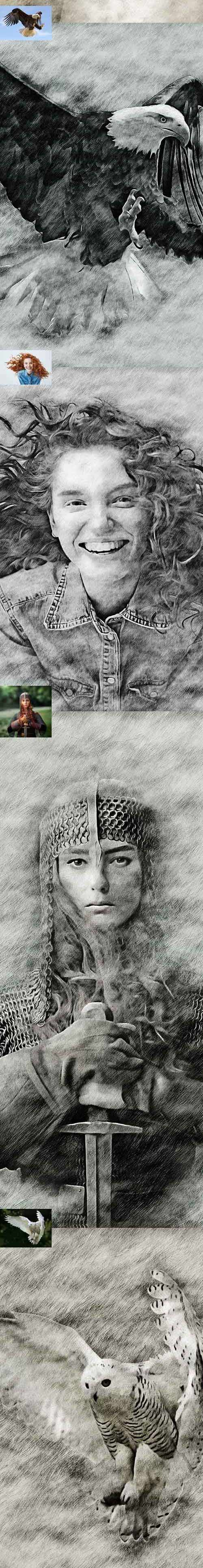 Graphicriver - Light Sketch CS4+ Photoshop Action 22100434