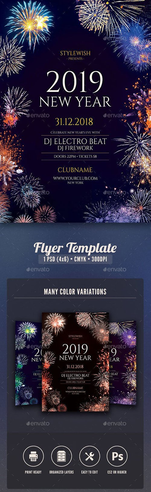 GraphicRiver - New Year Flyer 22621482