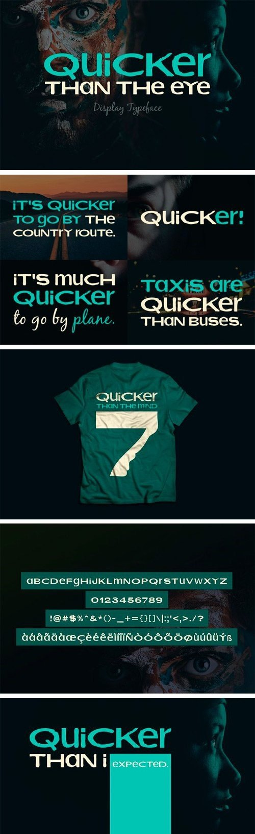 CM - Quicker Than The Eye Typeface 3063922