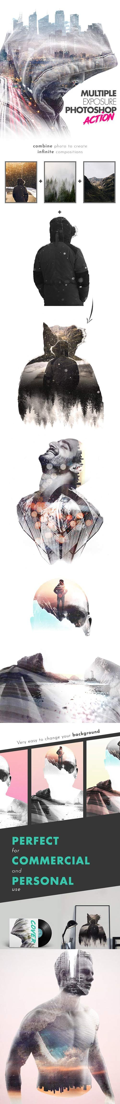 GraphicRiver - Multiple Exposure Photoshop Action 22613240