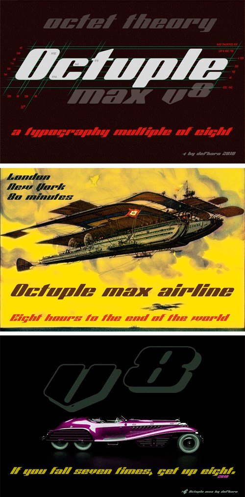 CM - Octuple Max 2 Fonts 3264446