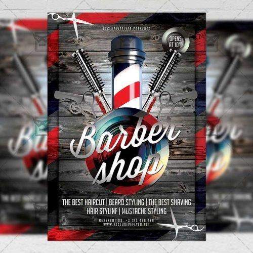 Business A5 Template - Barber Shop Flyer
