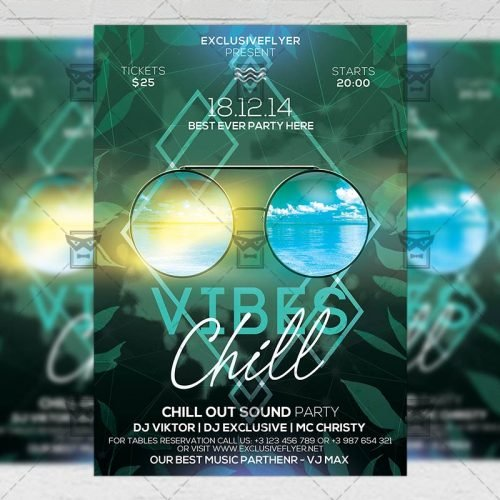Seasonal A5 Template - Chill Vibes Flyer