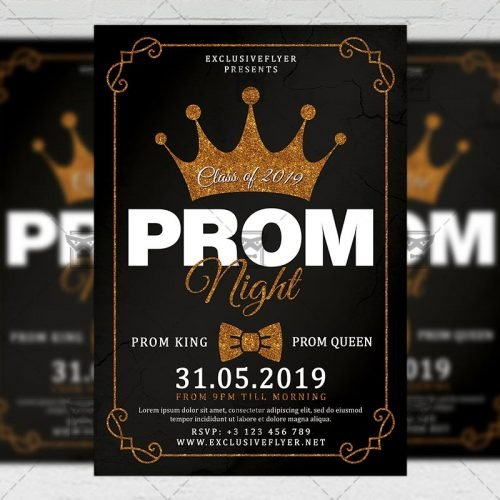 Seasonal A5 Template - Prom Night Flyer