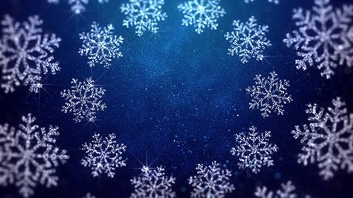 Christmas Snowflakes Blue Background 22898105