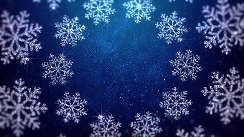 Christmas Snowflakes Blue Background 22898105