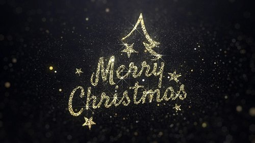 Merry Christmas Wishes Gold Background 22885321