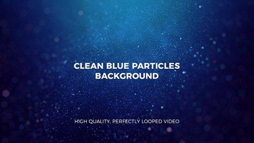 Clean Blue Particles Background 22916545